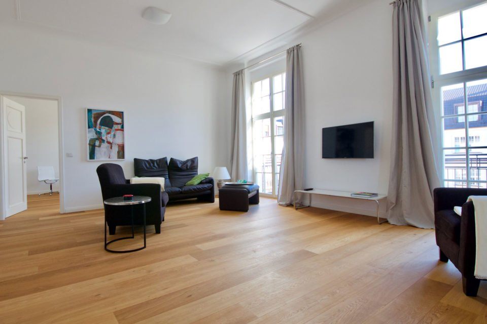 Spacious apartment with exclusive equipment and sauna