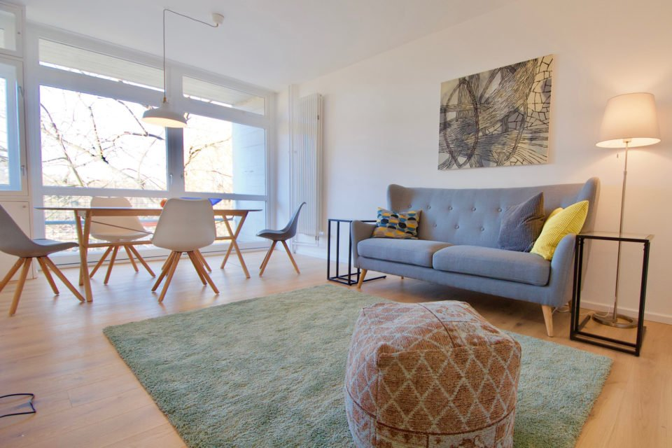 Altonaer Straße Entzückende 3-Zimmer-Wohnung mit großem Balkon im Oscar-Niemeyer-Haus